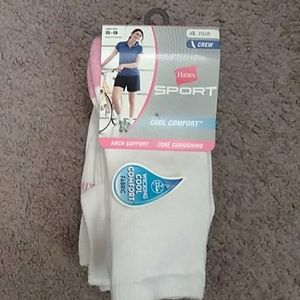 4 pair ladies crew socks